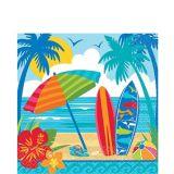 Serviettes de table Soleil, surf et plage, paq. 36