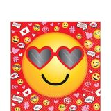 Smiley Valentine's Day Lunch Napkins, 36-pk