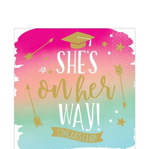 Reach For The Stars Grad Lunch Napkins, 36-pk