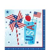 Serviettes de table patriotiques Celebrate USA, paq. 36