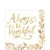 Serviettes de table Always Be Thankful, paq. 36