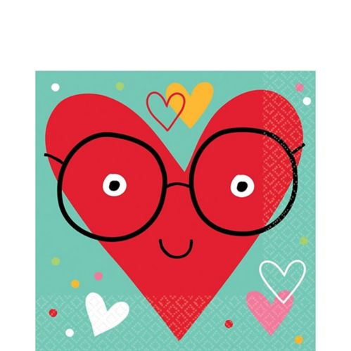 Heart Face Lunch Napkins, 36-pk Product image