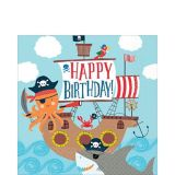 Pirate Shark Lunch Napkins, 36-pk | Amscannull