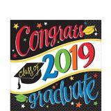 Colourful Congrats Graduate Lunch Napkins, 36-pk