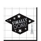 Finally Done Grid Graduation Lunch Napkins, 36-pk