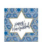 Festival of Lights Hanukkah Lunch Napkins, 36-pk