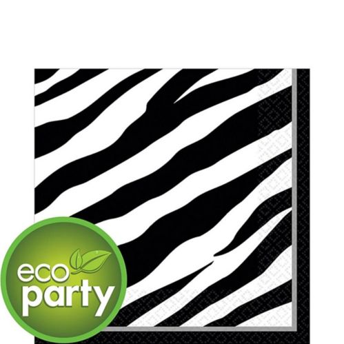 Zebra Print Lunch Napkins, 36-pk Product image