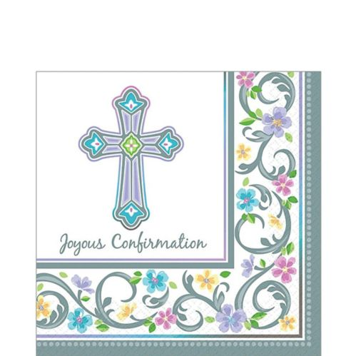 Blessed Day Confirmation Lunch Napkins, 36-pk