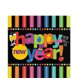 Serviettes de table pour le Nouvel An, couleurs vives, paq. 125
