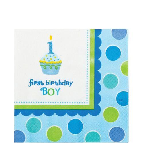 Serviettes de table 1er anniversaire garçon, paq. 36