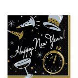 Serviettes de table Soirée du Nouvel An, paq. 100