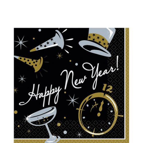 Black Tie New Year's Lunch Napkins, 100-pk