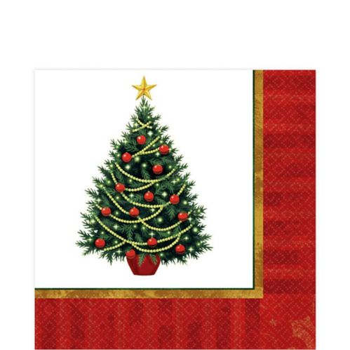 Twinkling Tree Lunch Napkins, 100-pk