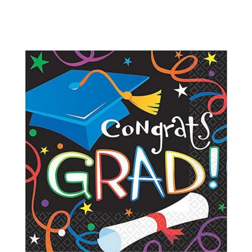 Grad Celebration Graduation Lunch Napkins, 100-pk