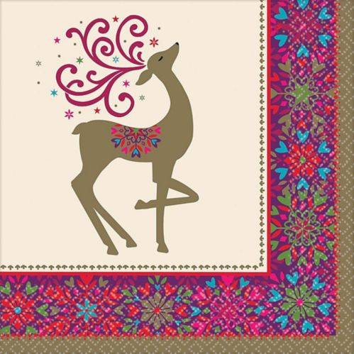Whimsical Winter Deer Dinner Napkins, 36-pk Product image