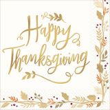 Serviettes de table Happy Thanksgiving, paq. 36