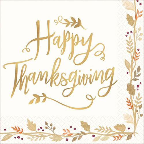 Happy Thanksgiving Dinner Napkins, 36-pk Product image