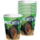 Gobelets en papier, thème de tracteur, paq. 8