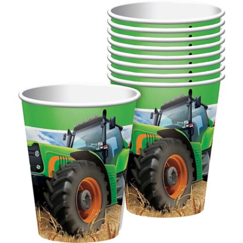 Tractor Time Paper Cups, 8-pk