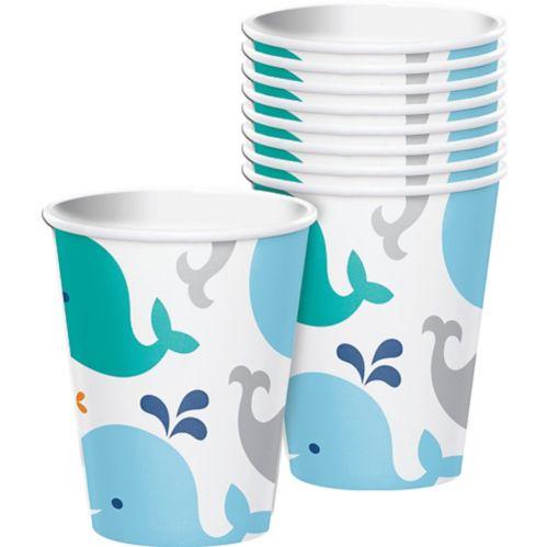 Gobelets en papier Baleineau bleu, paq. 8