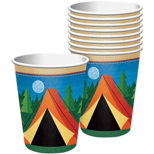 Gobelets en papier, thème du camping, paq. 8