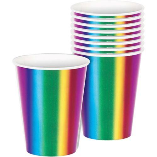 Metallic Rainbow Cups, 8-pk