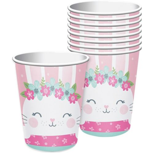 Bunny Party Cups, Pink, 8-pk