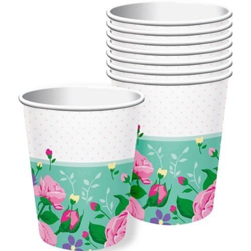 Floral Fairy Party Cups, 8-pk
