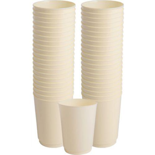 Big Party Pack Vanilla Cream Plastic Cups, 72-ct Product image