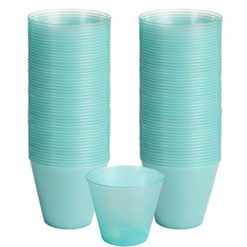 Big Party Pack Robin's Egg Blue Plastic Cups, 72-ct
