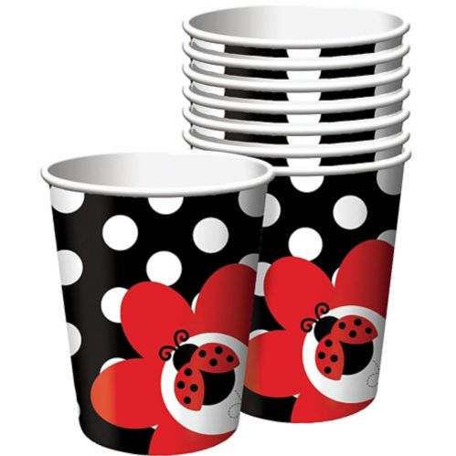 Fancy Ladybug Cups, 9oz, 8-pk