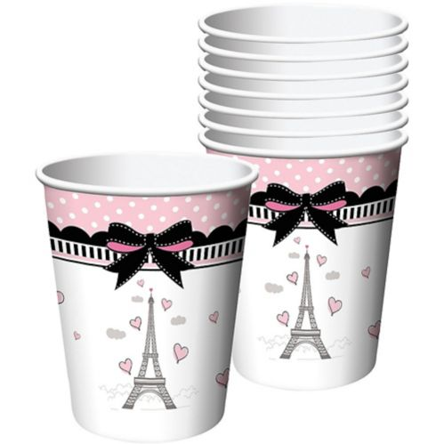 Party in Paris Cups, Pink, 8-pk
