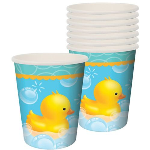 Rubber Ducky Baby Shower Cups, 8-pk