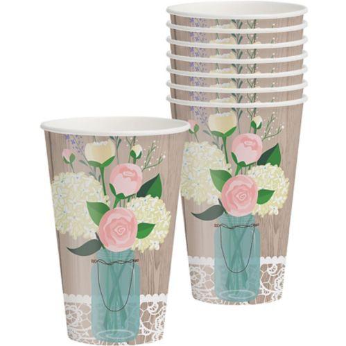 Rustic Wedding Cups, 8-pk