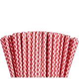 Red Gingham Paper Straws, 80-pk | Amscannull