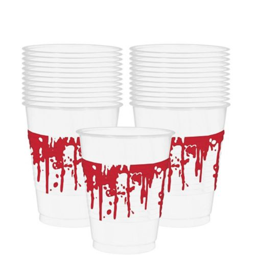 Blood Splatter Plastic Cups, 25-pk