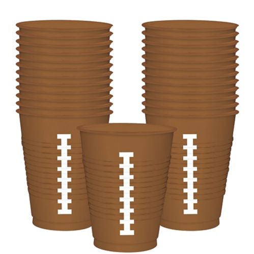 Touchdown Football Plastic Cups, 25-pk