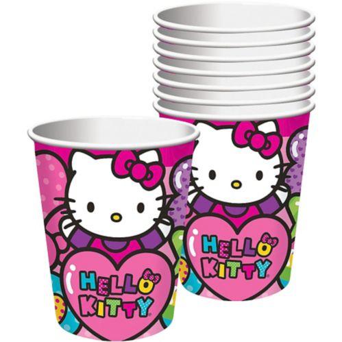 Gobelets Hello Kitty arc-en-ciel, paq. 8 Image de l'article