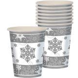 Sparkling Snowflake Cups, 8-pk