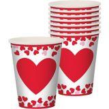 Gobelets, cœurs et confettis de la Saint-Valentin, paq. 8 | Amscannull