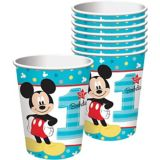 1st Birthday Mickey Mouse Cups, 8-pk | Disneynull