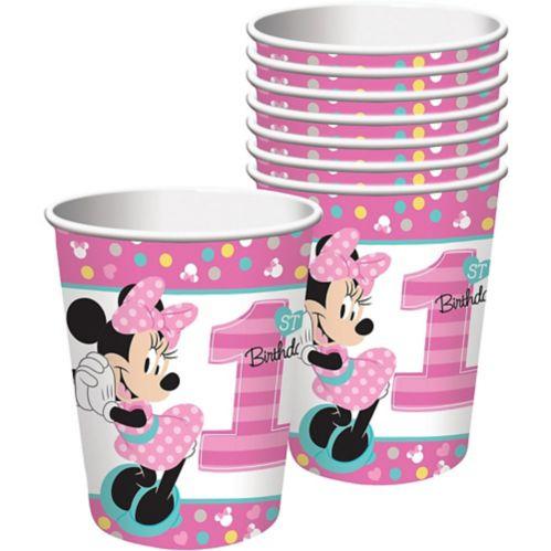 Gobelets Minnie Mouse 1er anniversaire, paq. 8