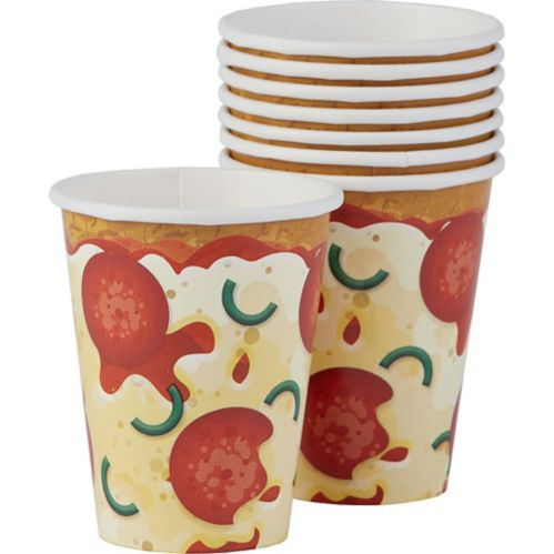 Pizza Party Cups, 8-pk