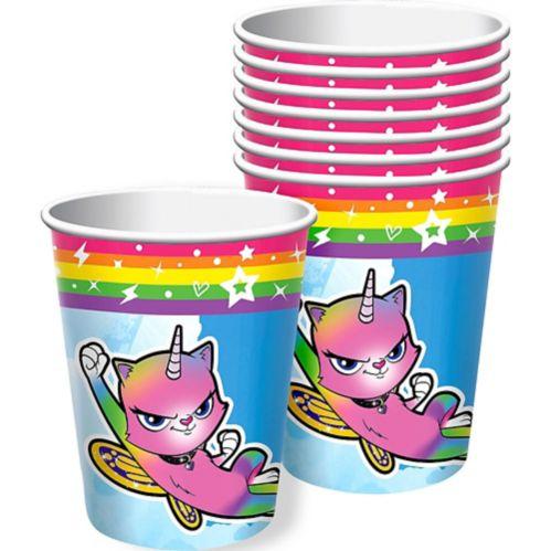 Rainbow Butterfly Unicorn Kitty Cups, 8-pk