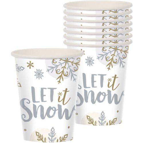 Sparkling Snowflake Cups, 9-oz, 8-pk