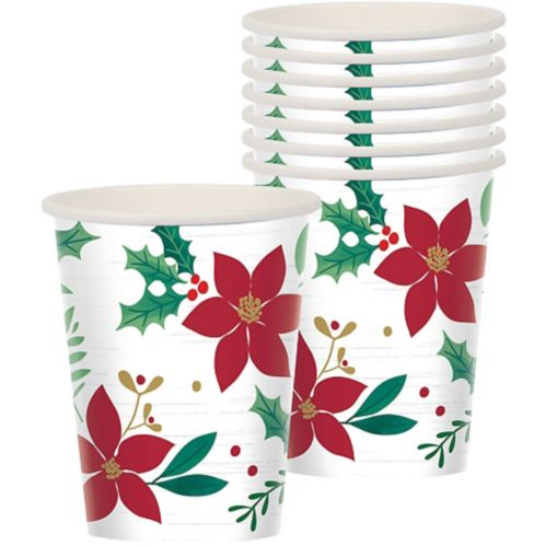 Holly Merry Christmas Cups, 8-pk