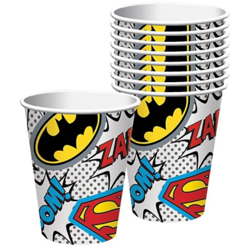 Justice League Heroes Unite Cups, 9-oz, 8-pk