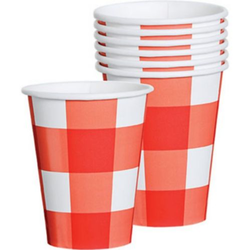 American Summer Gingham Cups, 8-pk