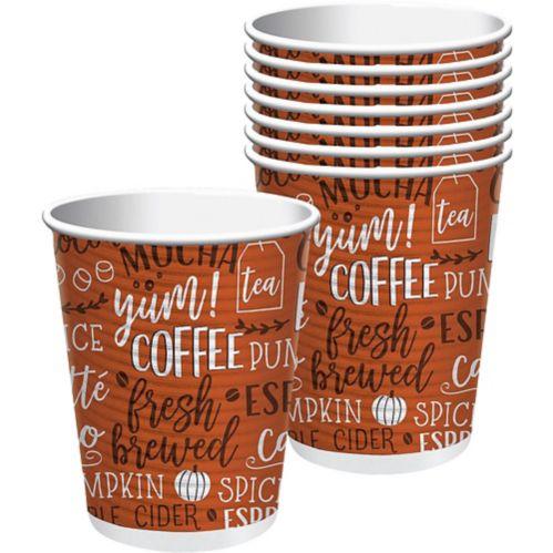 Tasses à café Pumpkin Spice avec couvercles, paq. 8