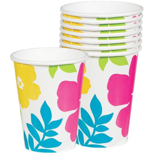 Hibiscus Cups, White, 25-pk